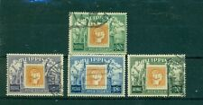 520-PHILIPPINES-4 used Centenary of Phillipines Postage Stamps-1954