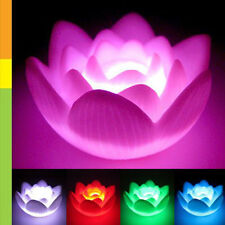 LED Lotus Flower Romantic Love Mood Lamp Night Light Wedding Favor Decoration N3