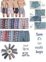 mens woven check boxer shorts cotton rich underwear breifs short trunks 3 6 9 12