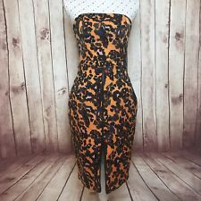 CAMILLA & MARC Dress Size 8 Cocktail Party Strapless Leopard Print