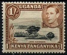 Kenia Uganda Tanganyika 1938-54 SG#145b 1s Negro y Amarillo Marrón P13x12.5 #D31189