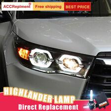 2Pcs For Toyota Highlander Headlights assembly Bi-xenon Lens Projector LED DRL