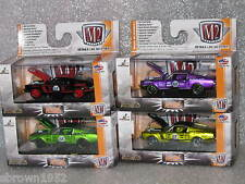 M2 MACHINES 1:64 1968 FORD MUSTANG LOT OF 4 RELEASE AM02 & S17