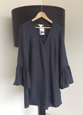 Grey Shift Dress, Size 14, NWT, H&M, Easy Wear, Smock Style, Grey Dress, Tunic