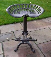 Cast Iron Vintage Tractor Seat Bar Stool Industrial Rustic Kitchen Adjustable UK