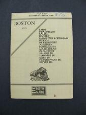 Boston & Maine Railroad B&M RR Timetable 1936 Dover Br. Public PTT TT Schedule