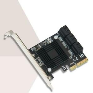 6 Port PCIE SATA Expansion Card PCIE to SATA 3 Controller 6Gbps SSD Card for PC