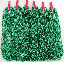 Mardi Gras Beads Green Disco 6 Dozen St Patricks Day Parade Party 72 Necklaces