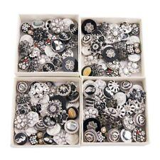 Click Button Druckknopf 20 Stück Neutrale Farben kompatibel Chunks-Systeme