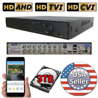 Sikker 16Ch CCTV DVR Recorder Security camera system 960H D1 720P 1080P HDMI 3TB