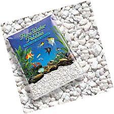 New listing Pure Water Pebbles Nature's Ocean Aquarium Gravel Snow White Color 5lb Bag