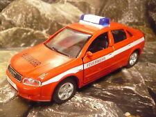 Welly® Urban Spirit Audi A 4 Feuerwehr Einsatzfahrzeug ca. 11,5 x 4,5 x 4,2 cm