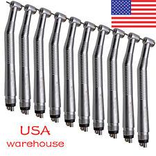 10 packs USA NSK Style Dental High Speed Handpiece Push Button 4 Hole SEASKY