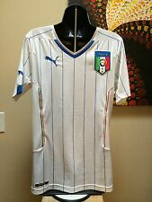 $90 Authentic Puma ITALY White Soccer Jersey 2014 Size Small  Authentic ITALIA