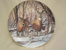 Afternoon Alert collector plate Bruce Miller Wildlife Deer Friends of the Forest