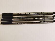 4 Black Mont Blanc Rollerball Refills Medium Size M 710
