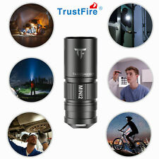 Trustfire Mini2 USB Rechargeable 220 lumens Camping Keychain Led Flashlight NEW