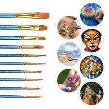 10pcs Art Paint Brush Set for Watercolor, Nail,Face Painting,Acrylic Pain /Craft