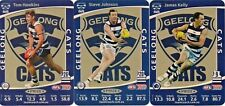 2012 LIMITED GEELONG CATS TEAMCOACH HAWKINS JOHNSON KELLY AFL PRIZE CARD SET