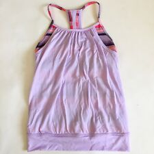 Ivivva Girls Racerback Athletic Exercise Stretch Tank Top Size 10 Purple Pink