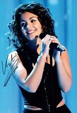 Katie MELUA Music Autograph 12x8 Photo C AFTAL COA British Singer