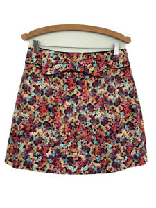 REVIEW BNWT Pansy Bouquet skirt bright 12 bright bow lined womens RRP $169.00
