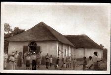 PARAKOU (DAHOMEY / BENIN) Sortie de MESSE / EGLISE animée en 1956