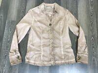 Women's Bottega Blouse Shirt Dress Made in Italy Sz M Long Sleeve Top