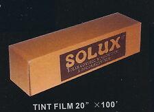 "20% MEDIUM BLACK TINT FILM 20""X100' SOLUX BRAND"