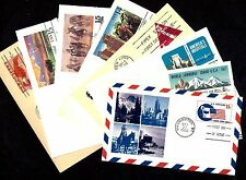 POSTAL CARDS with OFFICIAL FDC --  8 DIFF, 55 TOTAL --  1951-1989