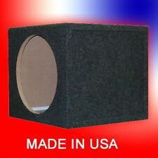 "12"" Sealed 3/4"" MDF Single Speaker Subwoofer Box 1.25 Cu Ft Air Made in USA"