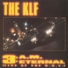 "THE KLF  3 A.M. Eternal (Live At The S.S.L.) PICTURE SLEEVE 7"" 45 record 3 AM"