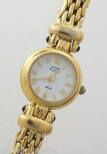 Anne Klein Woman's Watch 12-5012 Gold Tone Swiss Movt White Analog Dial