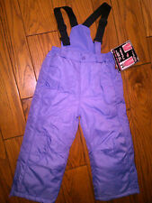 NWT GIRLS $44.99 BRIGHT PURPLE CONVERTIBLE ARIZONA SKI BIBS SKI PANTS SIZE 4