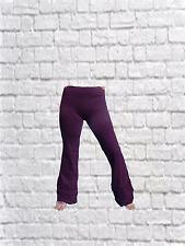 LONG RUFFLE Plum LEGGINGS Yoga,Gothic,Psy,Festival,Hippy,Pixie,Dance,Boho