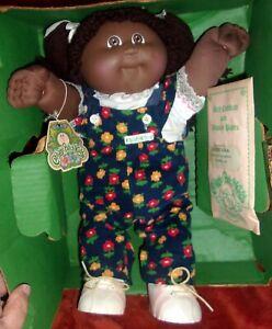 VTG 1983 Cabbage Patch Kids African American Black Girl Pony Tails ~Estate Find~