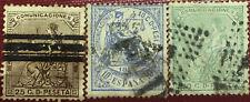 3 SELLOS ALEGORIAS ESPAÑA 1873 - 1874 EDIFIL 133, 135 Y 145, USADOS