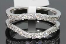 10K WHITE GOLD SOLITAIRE ENHANCER .57 CARAT DIAMOND RING GUARD WRAP WEDDING BAND