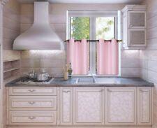 2 Piece Set Blackout Kitchen Curtain Window Lined Tier Pair Darkening Panels D24