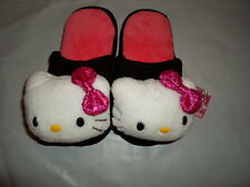 HELLO KITTY SANRIO PINK WHITE BLACK SEQUIN HOUSE SLIPPERS SHOES S (5-6) NEW