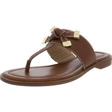 Mujeres de cuero Ripley Michael Michael Kors Tanga Sandalias Zapatos BHFO 7795
