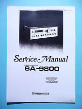 Service Manual-Instructions pour pioneer sa-9800