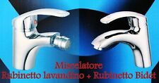 2 MISCELATORI PER LAVABO BAGNO E BIDET RUBINETTO MONOCOMANDO LAVANDINO CROMATO