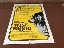 1979 Wise Blood Original Movie House Full Sheet Poster