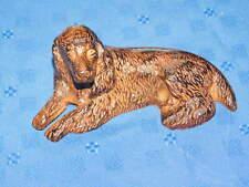 Brown Dog Figurine Paperweight Irish Setter Felt Bottom