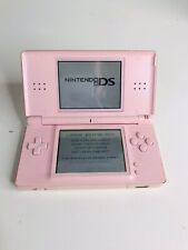NINTENDO DS LITE CONSOLE CORAL PINK TESTED AND FULLY WORKING WITH GBA SLOT COVER