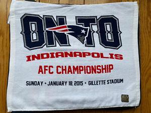 New England Patriots vs Colts Rally towel!! AFC SB XLIX champions!! Deflategate