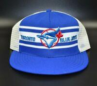 Toronto Blue Jays Vintage 80's AJD Super Stripe Split Bar Snapback Cap Hat