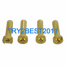 4pcs RC Connector Solid 4.0mm 4MM Low Profile Gold Bullet Connectors Male