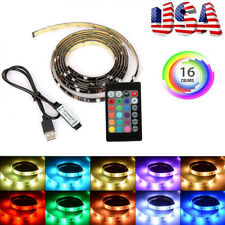 2pcs USB Powered RGB 5050 LED Strip Lighting for TV Computer Background Light 1m